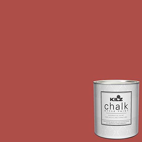 KILZ 00004704 Decorative Paint, 1 Quart, Red Flare