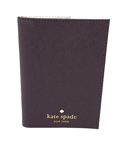 Kate Spade New York Mikas Pond Leather Passport Holder (Mahogany)