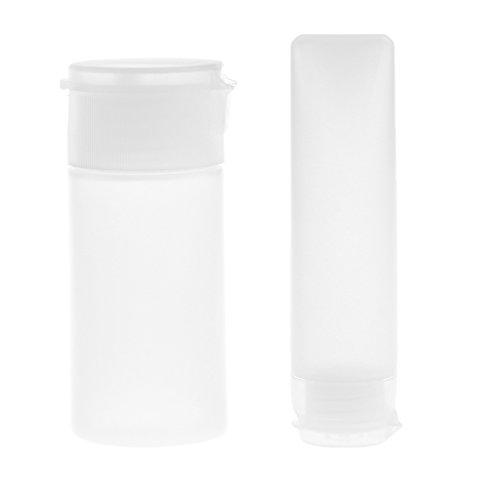 Homyl 2PCS 30ml Clear Empty Refillable Plastic Tubes Bottle Packing Mini Bottles For Shampoo Cleanser Shower Gel Body Lotion