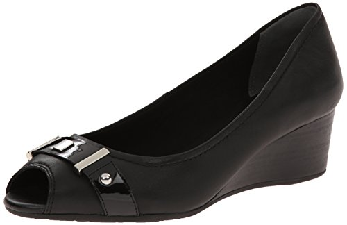 UPC 888596531951, Rockport Women's Total Motion 45mm Peep Wedge Black Soft Tumble 1 6.5 M (B)