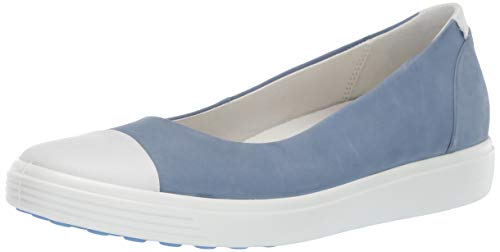 ECCO Women's Women's Soft 7 Ballerina Loafer, Retro Blue, 38 M EU (7-7.5 US)
