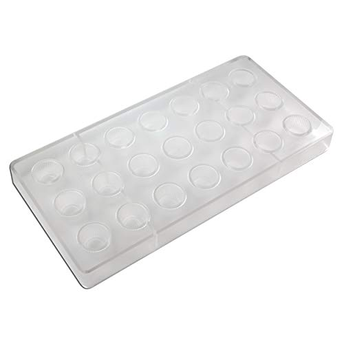 Fat Daddio's PCM-1002 Polycarbonate Fluted Tapered Round Candy & Chocolate Mold, 11 x 5.25 Inch, - Fluted Tapered