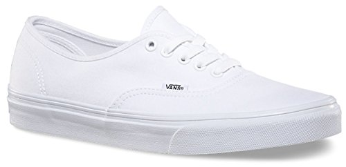 Vans 0EE3WOO: Authentic True White UNISEX Skateboard Sneakers]()