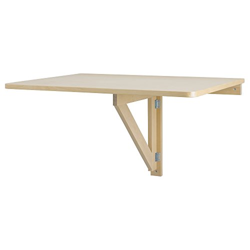 IKEA NORBO Solid Birch Wall-Mounted Drop-Leaf Bar Table (Drop Leaf Table And Folding Chairs)
