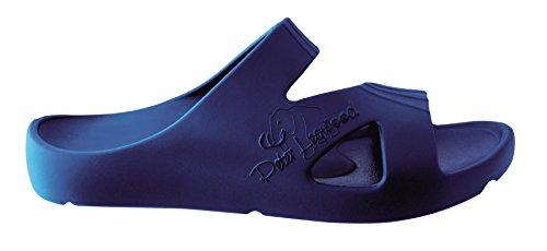 Femme Pour Legwood Bleu Mules Peter Foncé qtgwYU