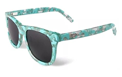 Diamond Supply Vermont Sunglasses Unisex Wayfarer Style (Diamond Blue, - Diamond Tiffany Black