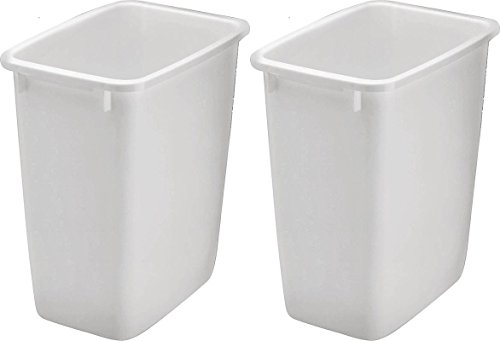 Rubbermaid 2806TP-WHT 36QT Open Wastebasket, White (Pack of 2) - Garbage Cans Waste Receptacles