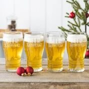 (Cathy's Concepts H17-4115-4 19 oz Beer Merry Pilsner Glasses, Clear)