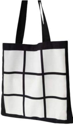 9 panel canvas tote bag for sublimation (pkg of 2) sublimation blank canvas blank heat press ink dye sublimation HTV Vinyl DIY tote bag