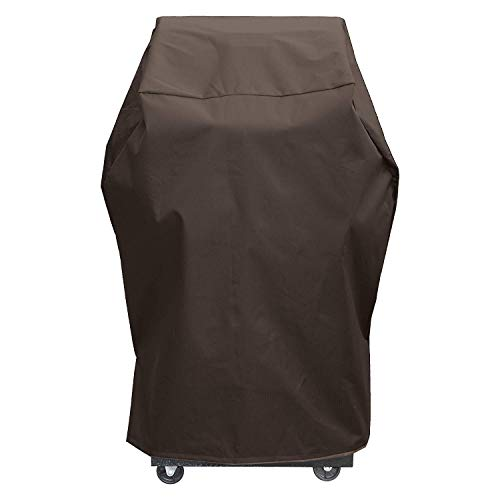 True Guard Grill Cover Heavy Duty Waterproof – Fits 1-2 Burner Grills, 34″ 600D Rip-Stop, Fade/Stain/UV Resistant, Dark Brown Outdoor BBQ Grill Cover