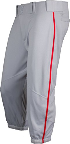 's Piped Knicker Baseball Pant Medium Gray/Red (Gray Mens Baseball)