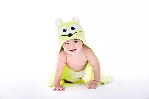 Happy Kid Organics - Infant Hooded Towel - (Green Fox)