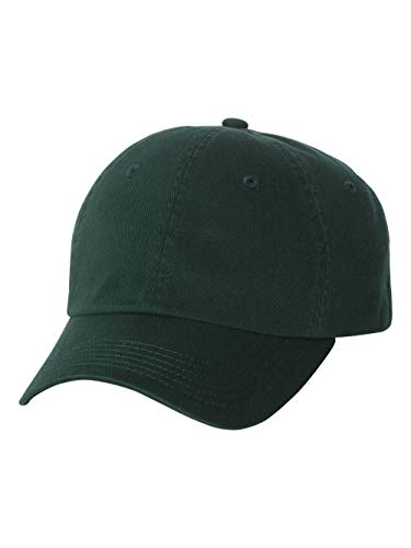 Bio Washed Unstructured Cap - Valucap - Unstructured Washed Chino Twill Cap with Velcro - VC350-Forest