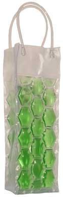 Green Chiller - Chill It - Wine Bag Beer Bottle Cooler & Ice Chiller Freezable Carrier (Green)