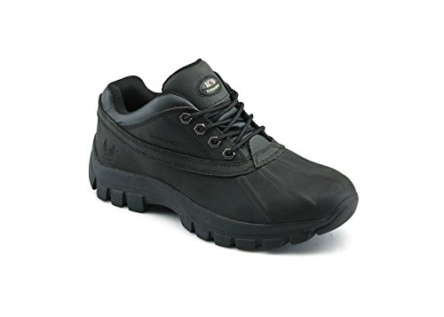 KINGSHOW Men's Water Resistance Rubber Sole Work Boots (8.5, 7014Black) by KINGSHOW