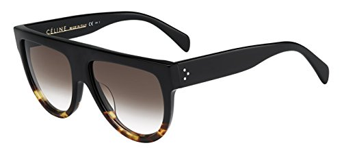 Celine 41026/S FU55I Black / Tortoise Shadow Aviator Sunglasses Lens Category - Glasses Celine