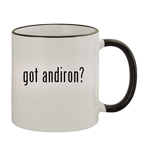 got andiron? - 11oz Ceramic Colored Rim & Handle Coffee Mug, Black