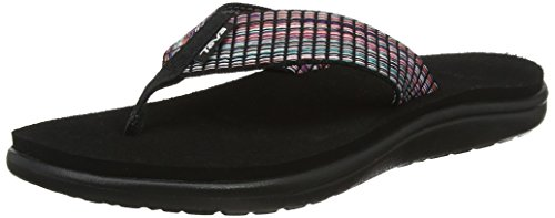 W Black Noir Bar Multi Flip Tongs Femme Teva Voya Street OwUFv