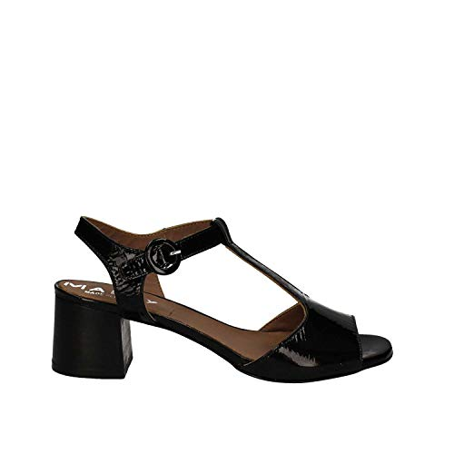 Sandalo 5758 Mally Donna Tacco Nero qz50f