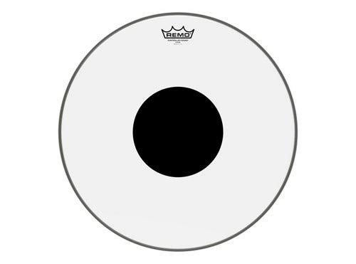 Remo CS0317-10 Clear Controlled Sound Drum Head -17-Inch - Black Dot on Top