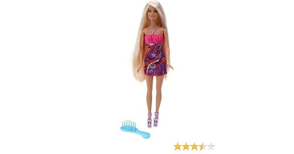 Amazon.es: Barbie W3211 - Muñeca Rubia con Pelo Largo: Juguetes y ...