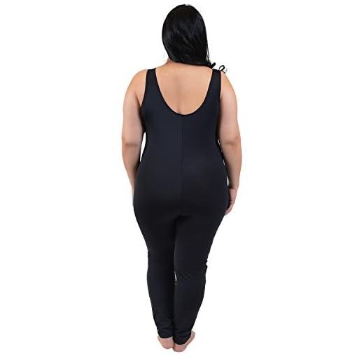Stretch Is Comfort Womens Plus Size Nylon Unitards