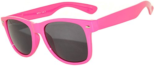 OWL Ladies Classic Vintage Sunglasses Retro 80's Pink Frame Smoke - Sun Glasses Pink