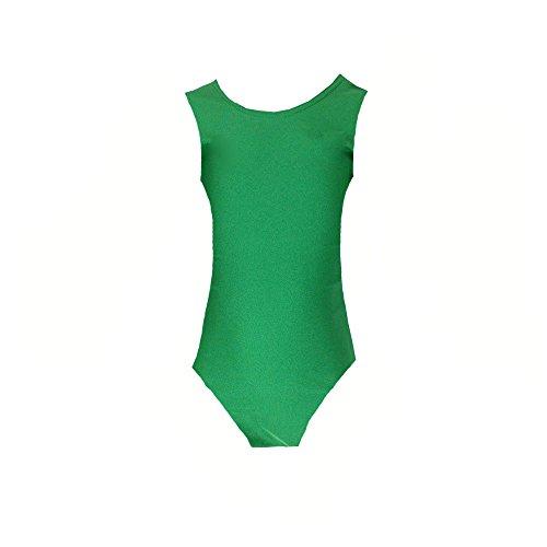Papaval Girls Kids Sleeveless Leotard Children Sports School Dance Ballet Gymnastics Top Green