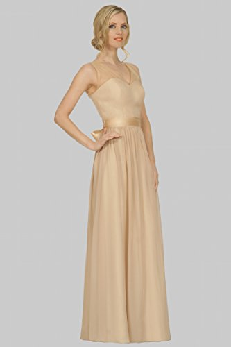 Cintas vestido formal V escote 3dc48 cuello de longitud de SEXYHER noche de damas Fajas EDJ1746 de palabra honor Darkchampagne 7Ix11Zdw