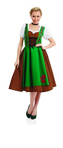 fun shack Womens Dirndl Costume German Bavarian Lederhosen Dress - Medium ()