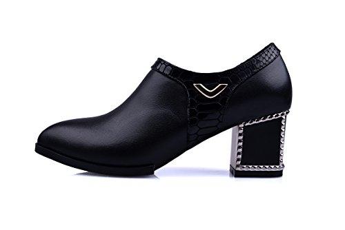 Buckle Women Chunky MINIVOG MINIVOG Booties Ankle Platform Chunky Black Heel RXaZZq