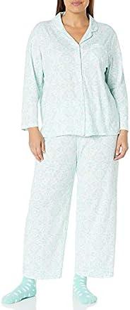 Karen Neuburger Womens Long-Sleeve Brocade Girlfriend Pj Set Pajama Set