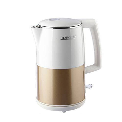 JYTNB Cordless Electric Kettle, 304 Food Grade Stainless Steel, 2000-2500W High Power Electric Kettle, Auto Shut-Off & Boil-Dry Protection, BPA Free, 2.0L,Whitegold ()