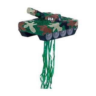 YA OTTA PINATA 30229 Tank Pull String Pinata - paper