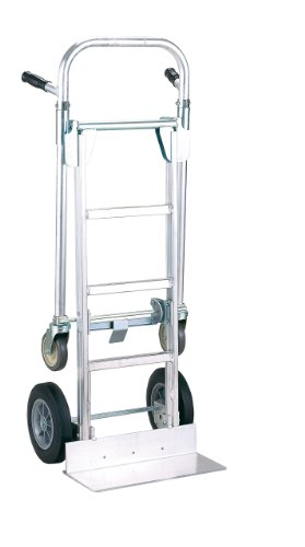 Harper Trucks 850 lb Capacity Pro-Max Aluminum Convertible Hand Truck and Dolly with 10'' Flat-Free Solid Rubber Wheels by Harper Trucks