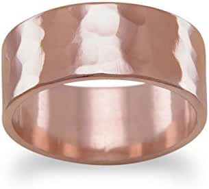 8mm Solid Copper Hammered Ring, Sizes 6-12