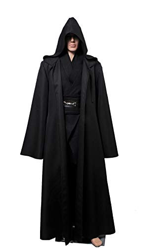 (Quintion Norris Men Halloween Cosplay Costume Tunic Hooded Robe Outfit)