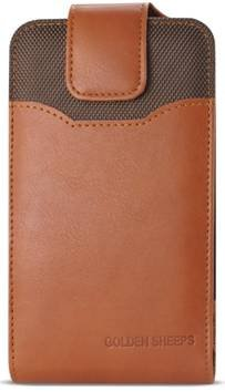 BNY-WIRELESS Samsung Galaxy S9 S8 Premium Vertical Leather Belt Clip Holster Pouch Case Cover (Samsung Galaxy S8 with thin or Slim Case On)-BROWN