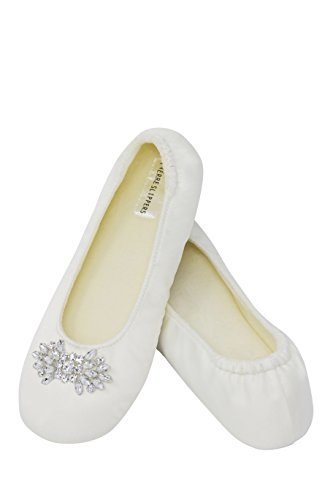 Satin Bridal Slippers (Women's Bridal Satin Slippers (Large))