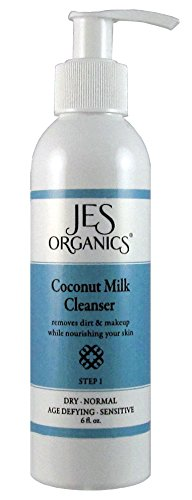 Coconut Milk Facial Cleanser, Age Defying, Organic Infused, Paraben Free (Dry, Sensitive, Mature, Normal ()