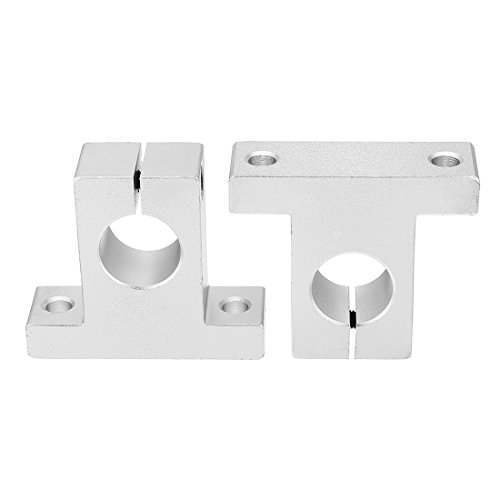 (uxcell 2pcs SK25 Aluminum Linear Motion Rail Clamping Guide Support for 25mm Dia Shaft)
