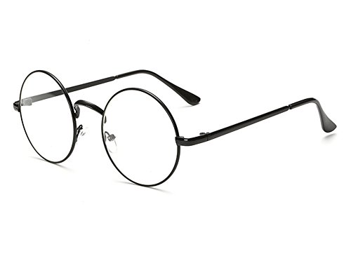 Bonvince Non-Prescription Round Circle Frame Clear Lens Glasses - Frames Without Glasses Prescription