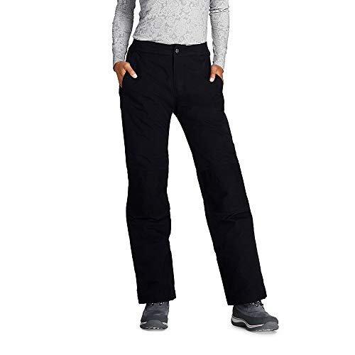 Lands' End Women's Squall Insulated Snow Pants, M, Black
