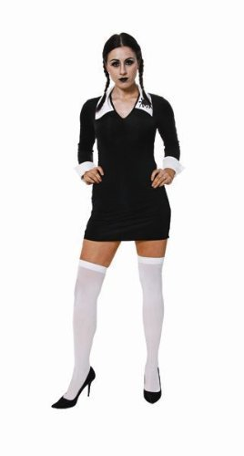 FANCYDRESS LIKE WEDNESDAY ADDAMS FAMILY COSTUME OUTFIT (Wednesday Addams Outfit)