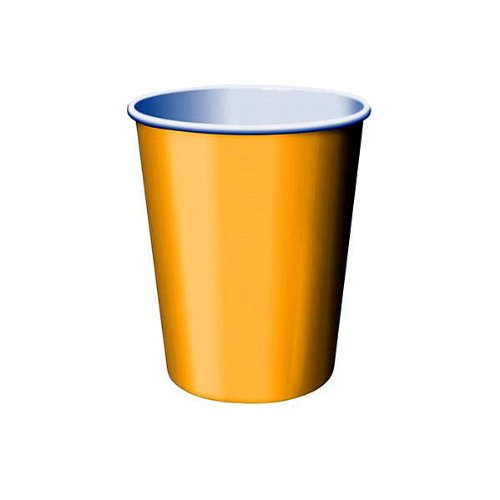 Creative Converting 563269 9 oz Hot/Cold Cup School Bus Yellow 96 Counts
