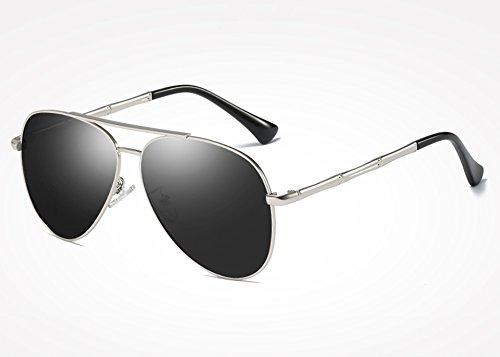 gris Gafas para gray de sol de UV400 silver gafas gafas Sunglasses sol hombre Retro plata Vintage hombres Drive masculinos tonos TL Tv5cPRpA