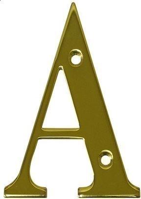 Para puertas letras - diseñ o de la letra A - acabado pulido en lató n o - dorado - incluye puerta uPVC todos los tipos HomeSecure
