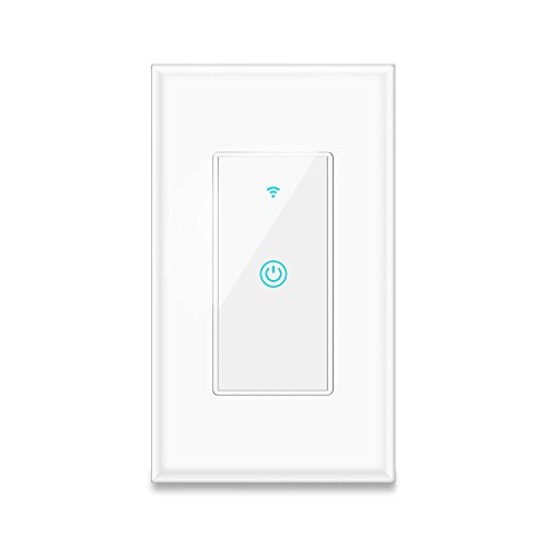 Smart Light Switch, Aicliv WiFi Light Switch Works with Alexa, Google Home and IFTTT, Requires Neutral Wire, Easy In-Wall Installation, Control Light Remotely via App, No Hub Required