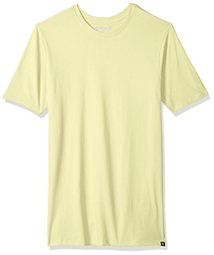 Hurley Men's Premium Cotton Staple Short Sleeve Tee Shirt, Citron Tint, XL