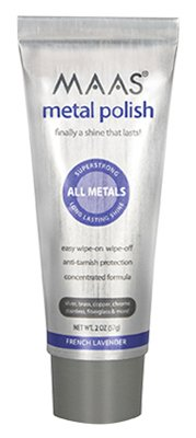 MAAS Polishing Creme For All Metals 2 oz Tube (Pack of 6) by Maas International Inc